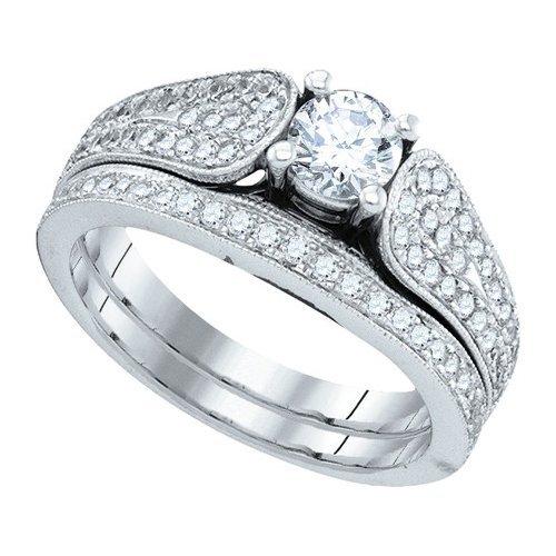 1.0CT Diamond Bridal 14KT Ring White Gold