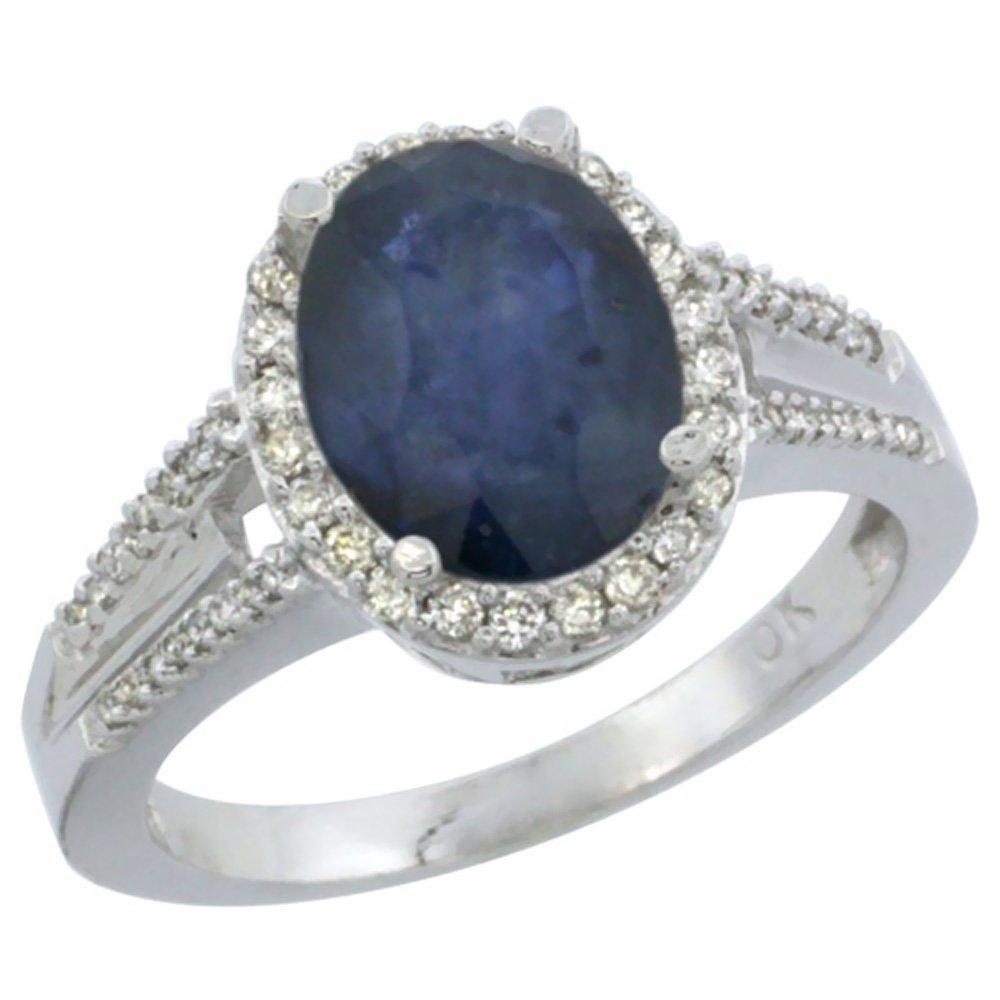 Natural 2.72 ctw blue-sapphire & Diamond Engagement