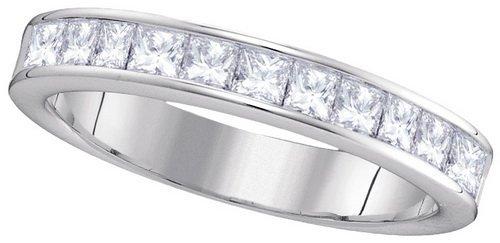 1.0CT Diamond Anniversary 14KT Ring White Gold