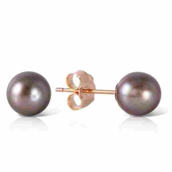 4 ctw Black Pearl Earrings Jewelry 14KT Rose Gold