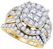 3.0CT Diamond Soleil 14KT Ring Yellow Gold