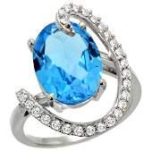 Natural 589 ctw Swissbluetopaz  Diamond Engagement
