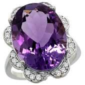 Natural 1383 ctw amethyst  Diamond Engagement Ring