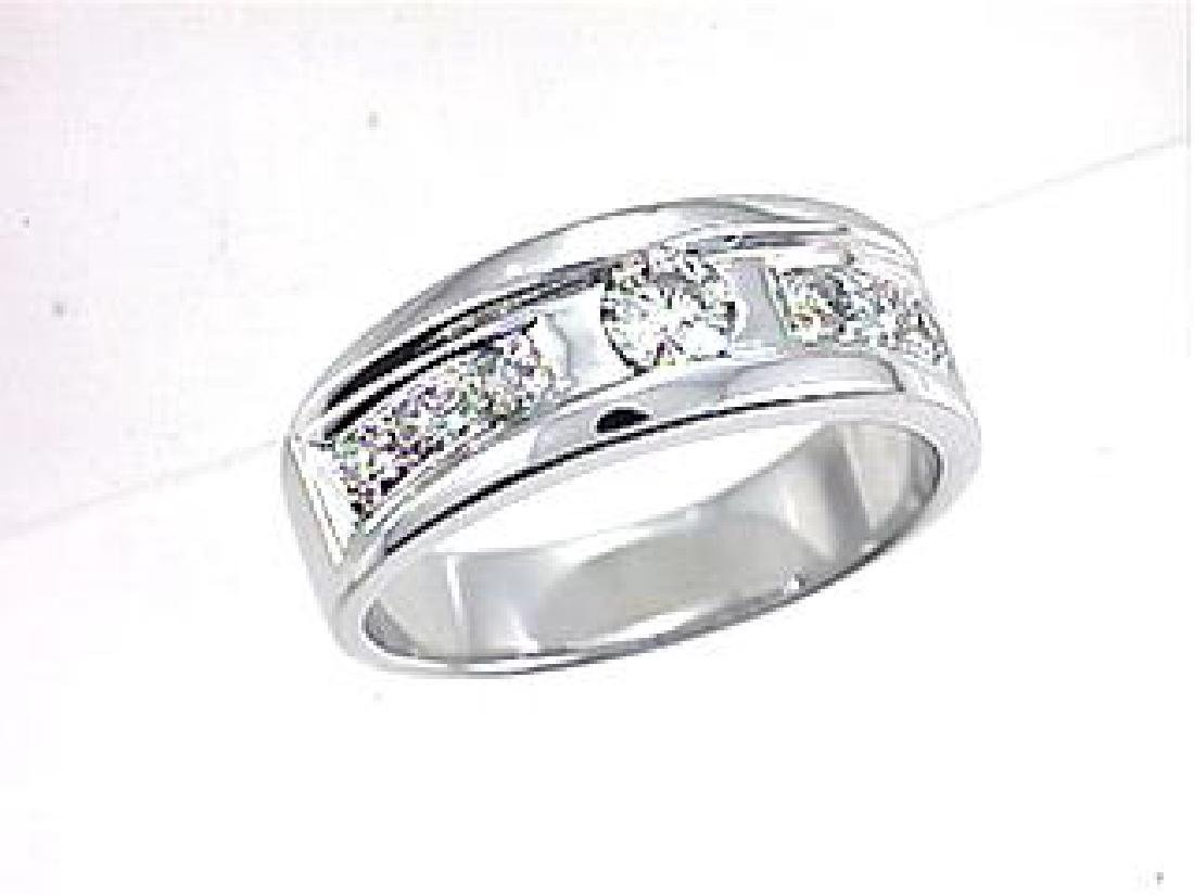 14K White Gold 0.46CTW Diamond Band Ring - REF-80N2A