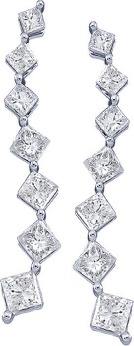 0.5 CTW Princess Natural Diamond Journey Stud Earrings