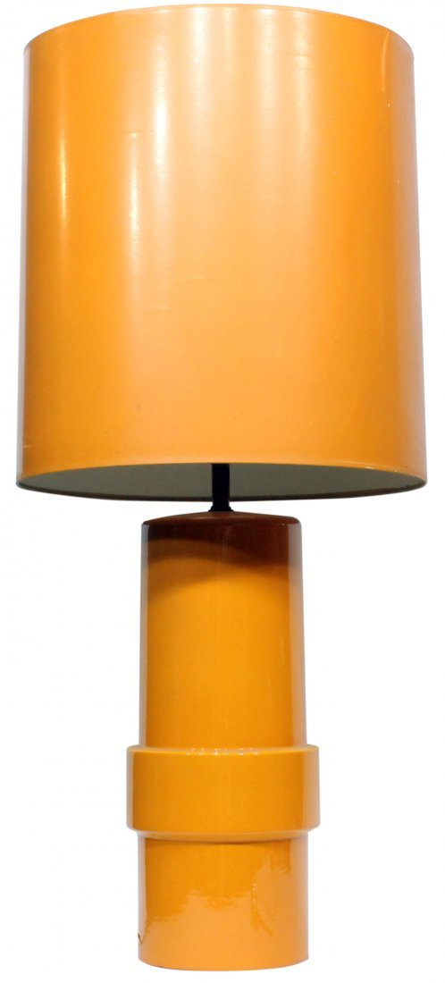 Mid century modern Orange lamp