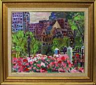 Herman Zuker Son of Jehudith Sobel Oil on Canvas NYC