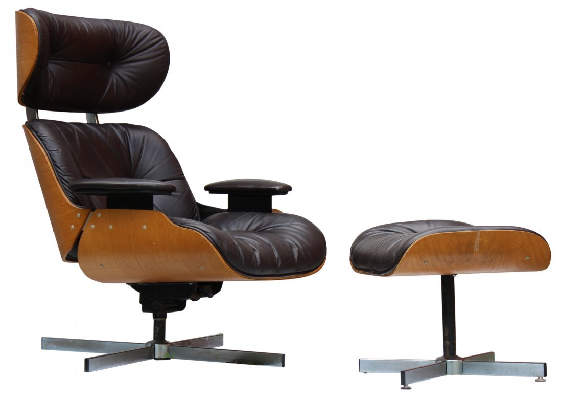 Charles Eames Herman Miller Style Lounge Chair, Ottoman
