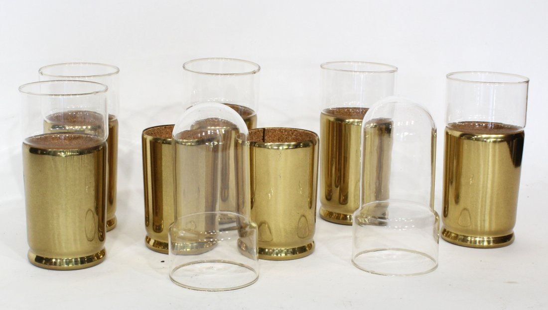 Seven (7) Mid-Century Modern Everlast Brass Cups