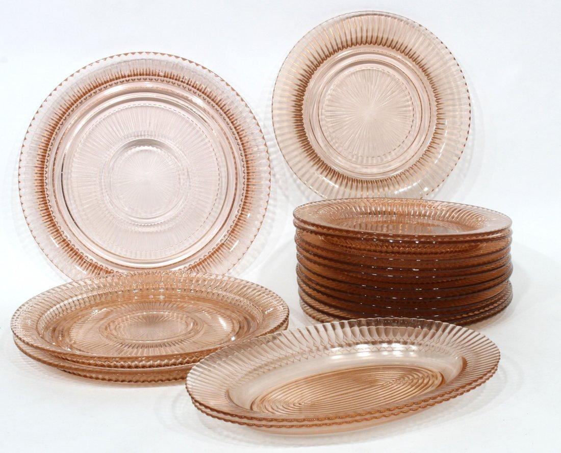 17 Miss America Pink Depression Glass Plates