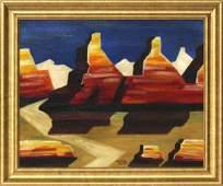 CONRAD BUFF [1886-1975], Oil/c, Modern Western American