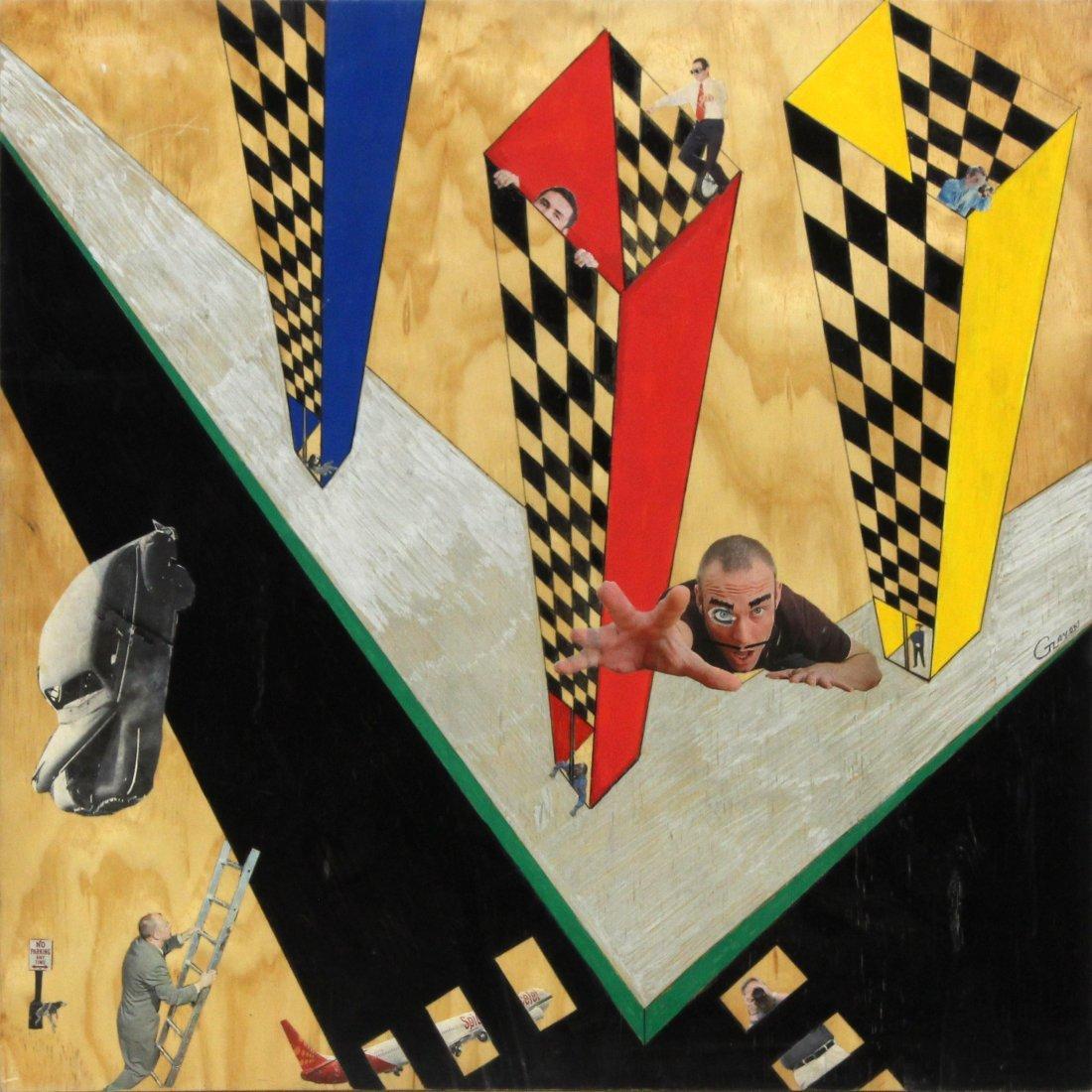 G ZAYON Pop art Mid-Century Modern Mixed Media