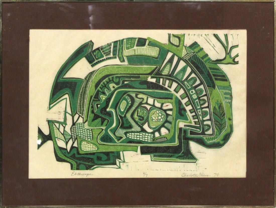Charlotte Olivia '74 Earthscape Mid-Century Mod print