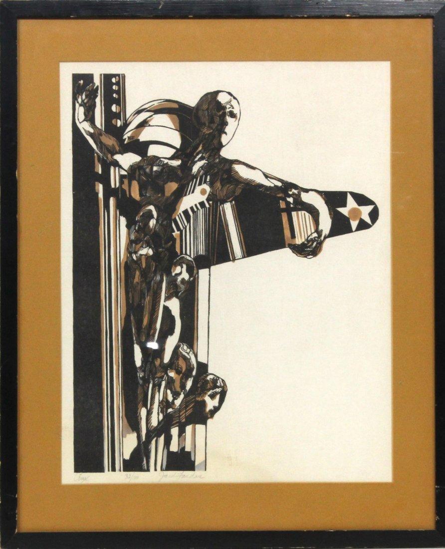 Jacob Landau [1917-2001]  New Jersey Artist Signed