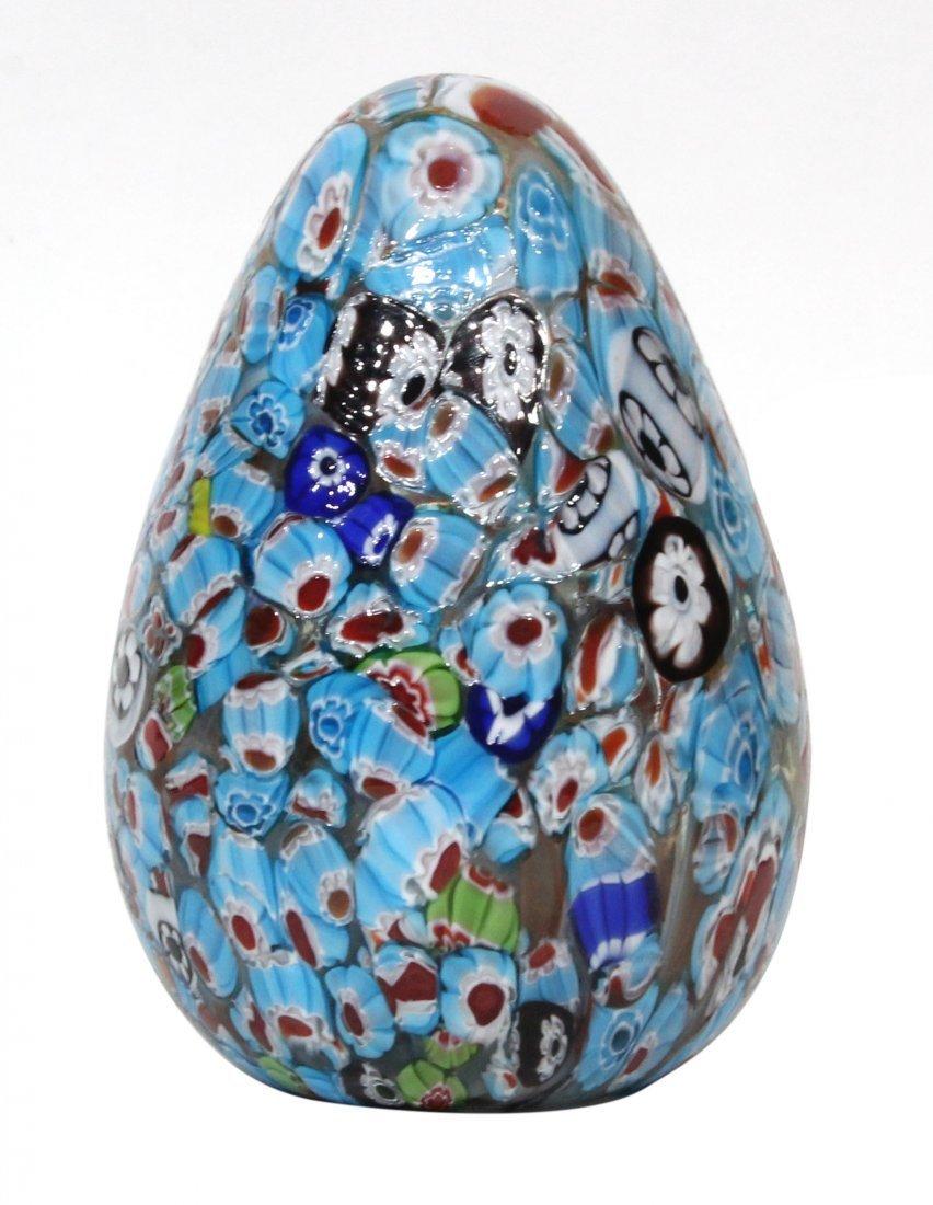 Milifiore Murano Glass Egg Paperweight