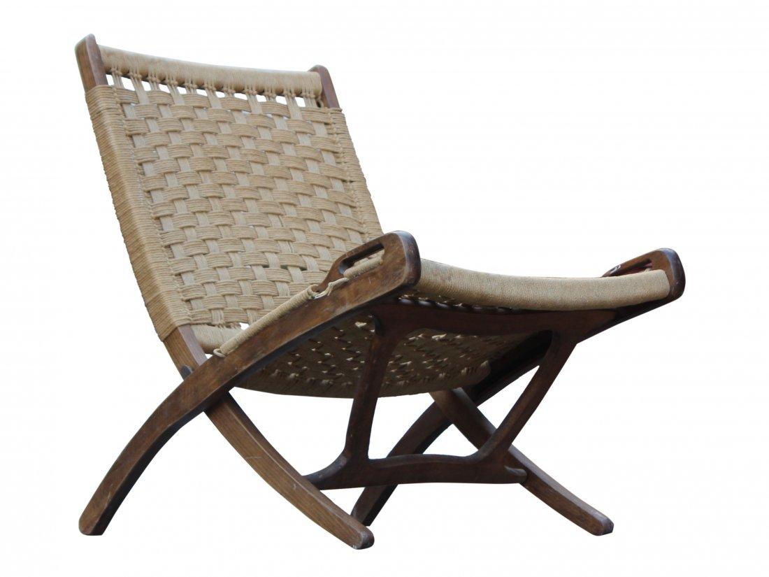 HANS WEGNER [attributed] Danish Modern Folding Chair