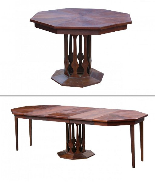 Foster Mcdavid Harvey Probber Dining Table 3 Leaves