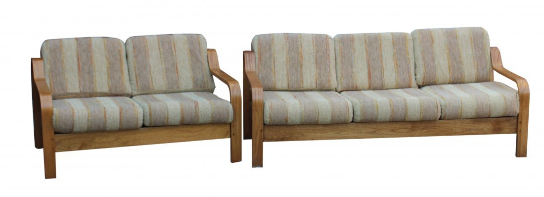 Taylor Ramsey Bent Wood Mid-century Modern Sofa & Couch