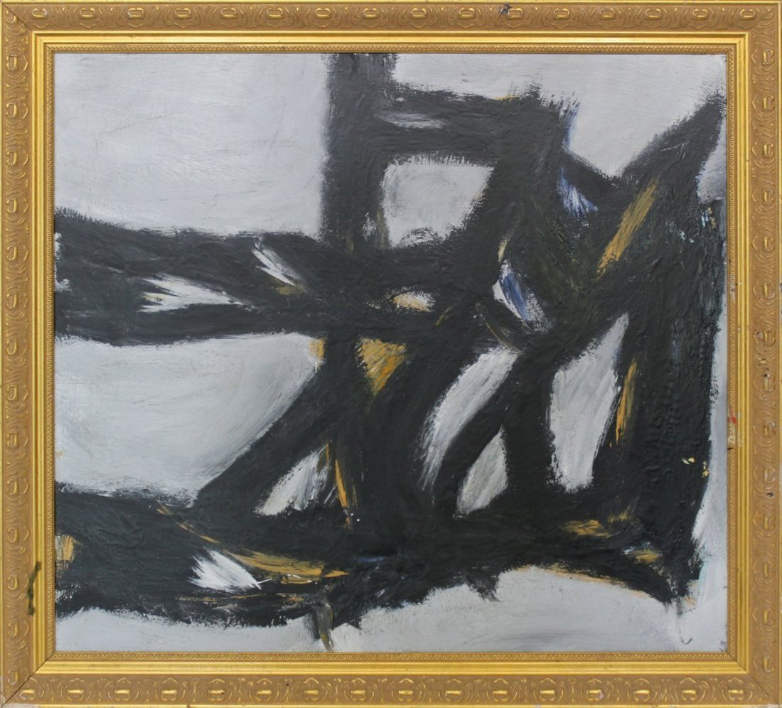 FRANZ KLINE [style of] Mid Century Modern Abstract Oil