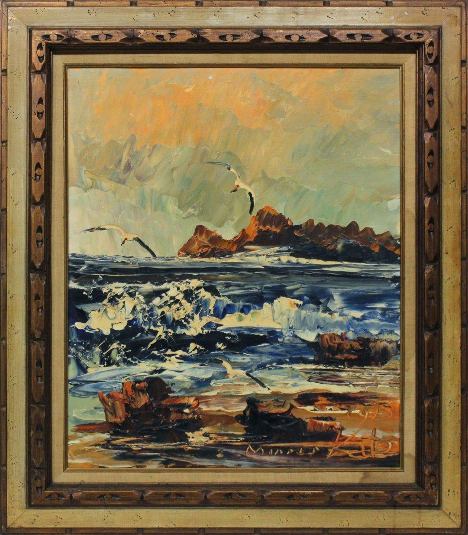 Morris Katz with Crashing waves 1975