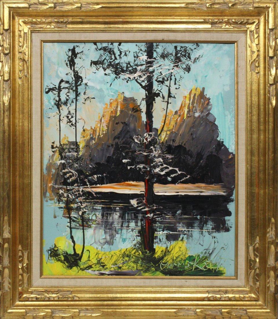Morris Katz 1975 Original Oil Painting 24 20 RARE mount