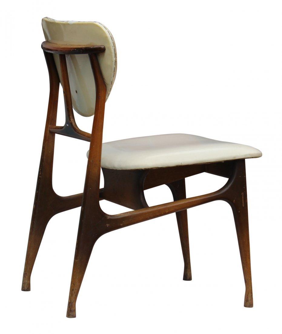 midcentury modern side chair sunburst fade