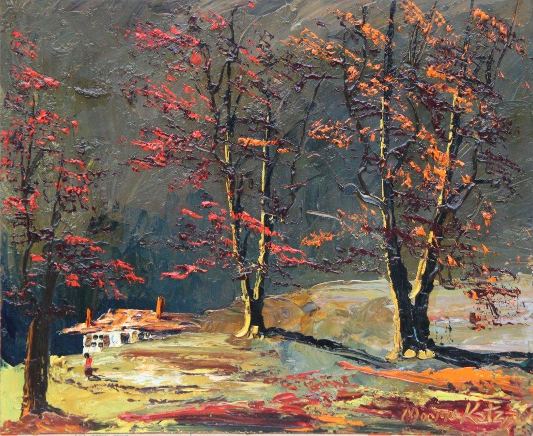 morris katz 1970 autumn landscape