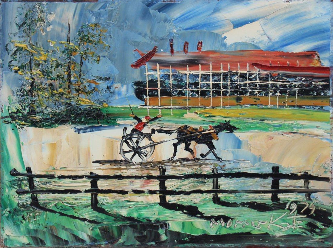 Morris Katz 1979 Race Horses