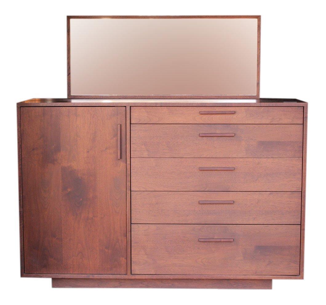 midcentury danish modern dresser cabinet with mirror