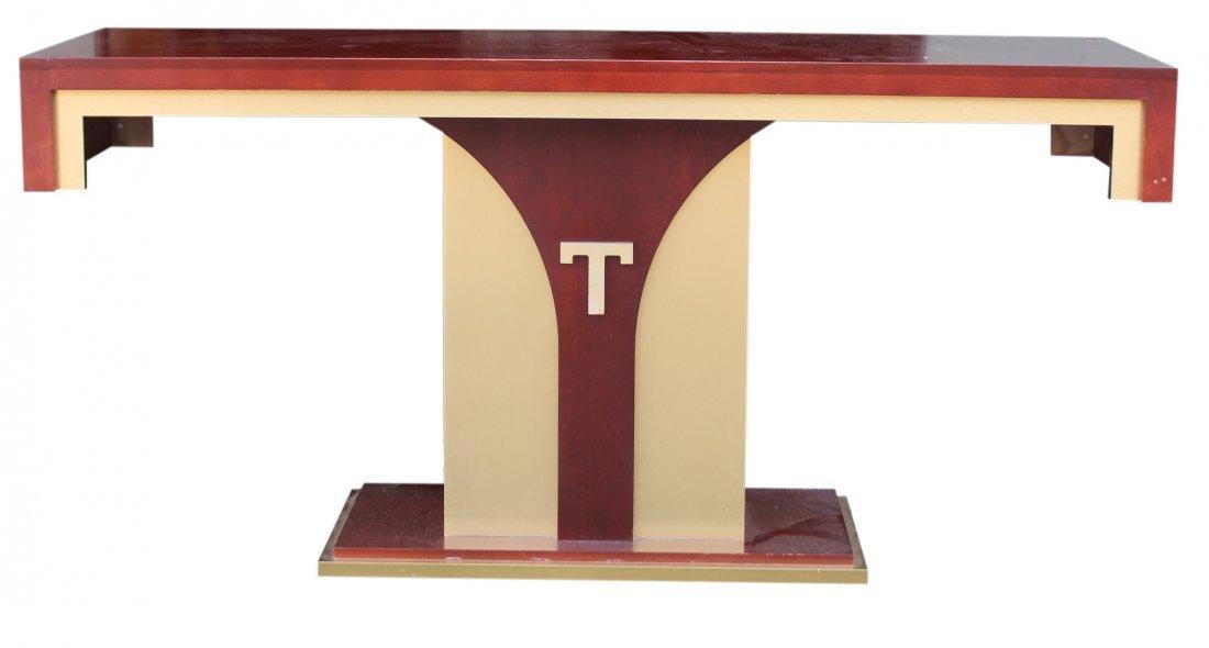 Donald Trump T Console Table Atlantic City Property.