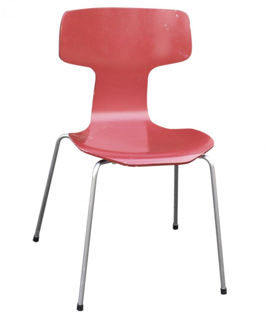 HANSEN Mid century Modern Bent wood side chair