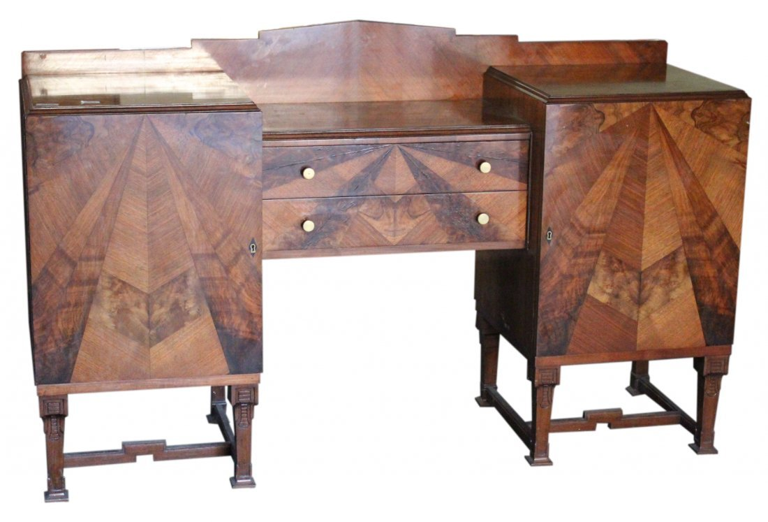 Spectacular FRENCH ART DECO EXOTIC WOODS SIDEBOARD