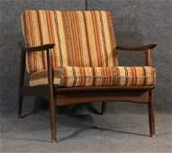 Mid-century danish modern teak lounge arm chair