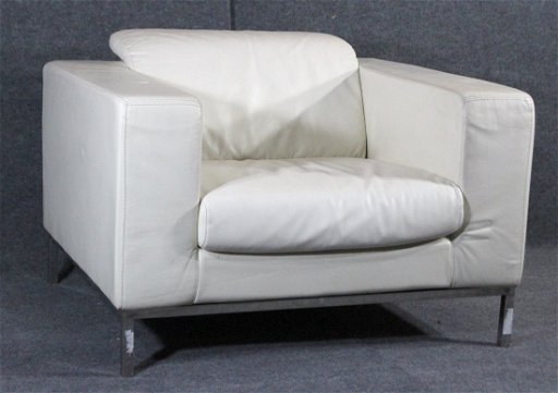 Incredible Decoro White Leather Oversize Retro Occasional Chair Unemploymentrelief Wooden Chair Designs For Living Room Unemploymentrelieforg