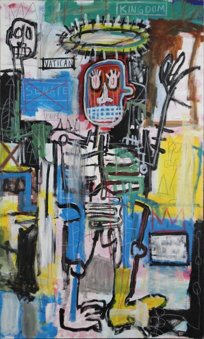 Jean-Michel Basquiat  (1960 - 1988) GRAFFITI ART FIGURE