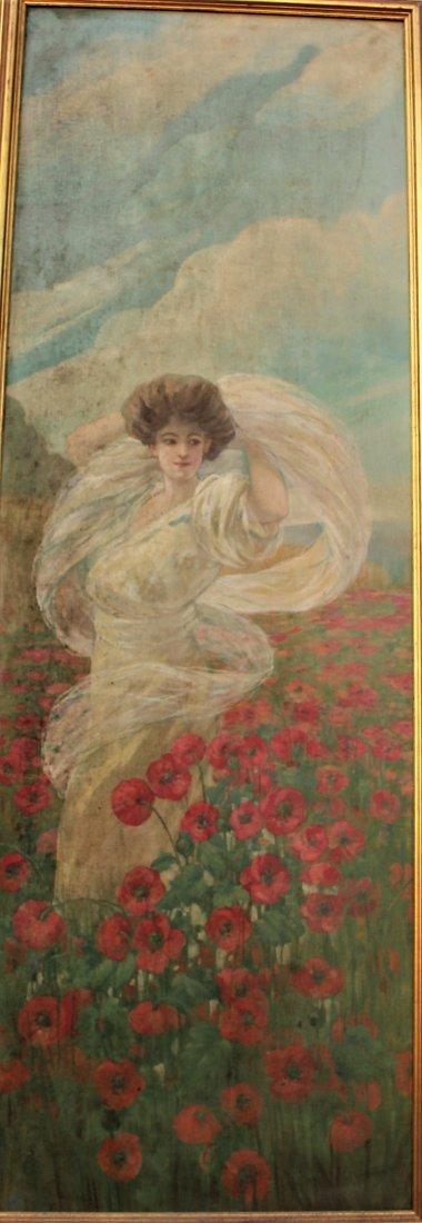 HOWARD CHANDLER CHRISTY Manner Of, GIRL WILD FLOWERS