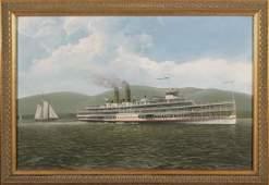 ALBERT NEMETHY [father] Oil/c HENDRICK HUDSON Riverboat