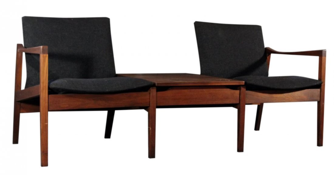 WALTER NUGENT Teak DOUBLE CHAIR SETTEE WITH TABLE