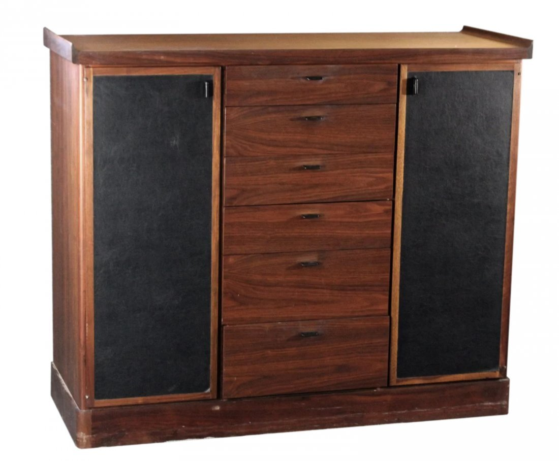 HARVEY PROBBER attrib ROSEWOOD GENTS CHEST DRAWERS