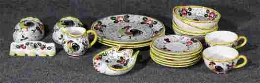 20 pieces MID CENTURY ROOSTER DECOR CERAMIC DINNERWARE