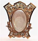 Ornate Victorian Aesthetic Movement Wall Mirror Sconce