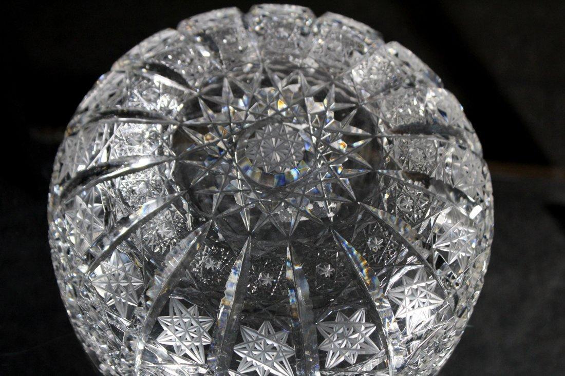 American Brilliant Cut Glass Bowl - Pinwheel Pattern - 4