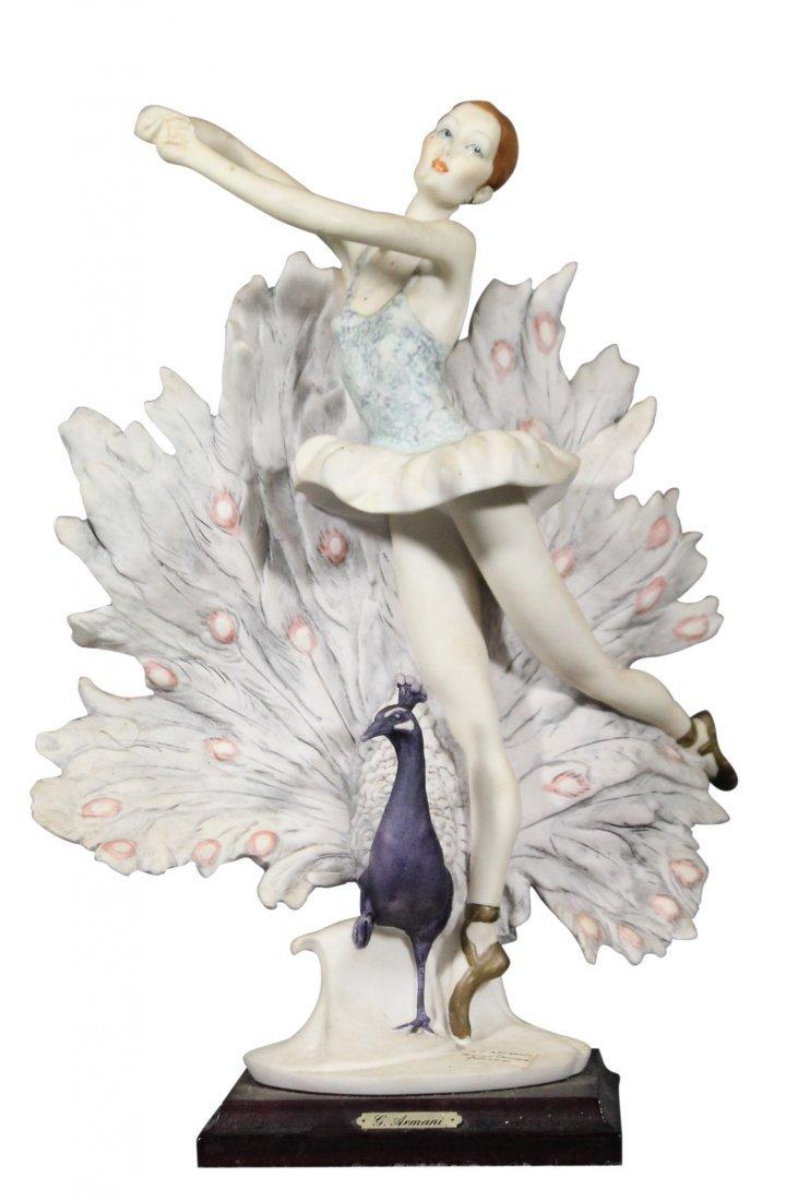 GIUSEPPI ARMANI Signed Statue Peacock Dancer