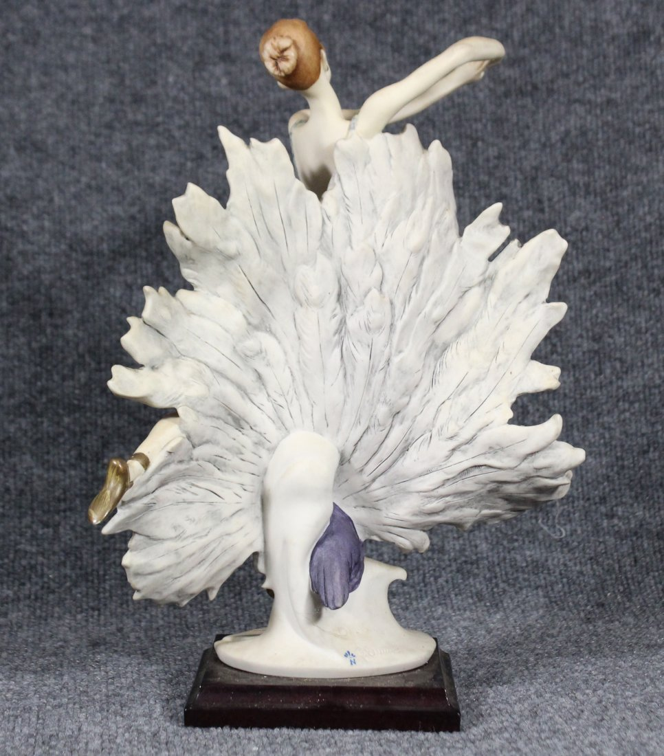 GIUSEPPI ARMANI Signed Statue Peacock Dancer - 4