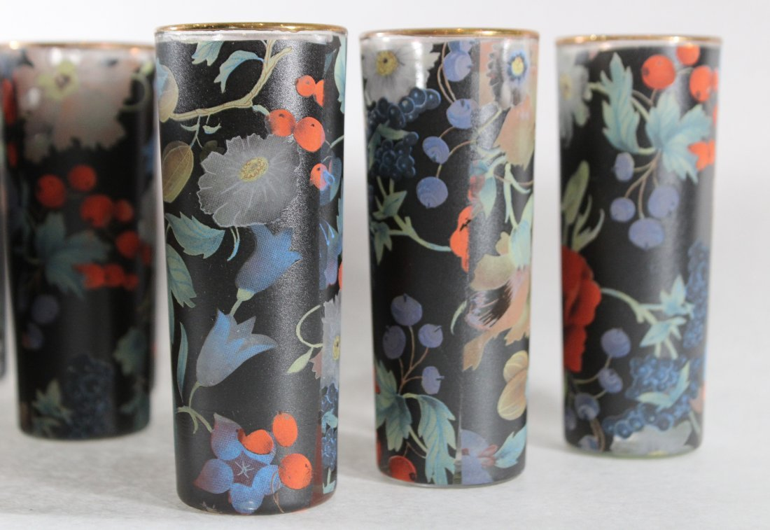 20 Italian Glass Table Top Bud Vases Handpainted Floral - 4