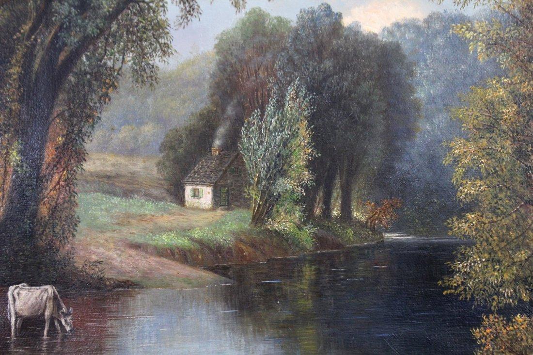 GEORGINA NEMETHY, Cows Watering At Stream Landscape - 4