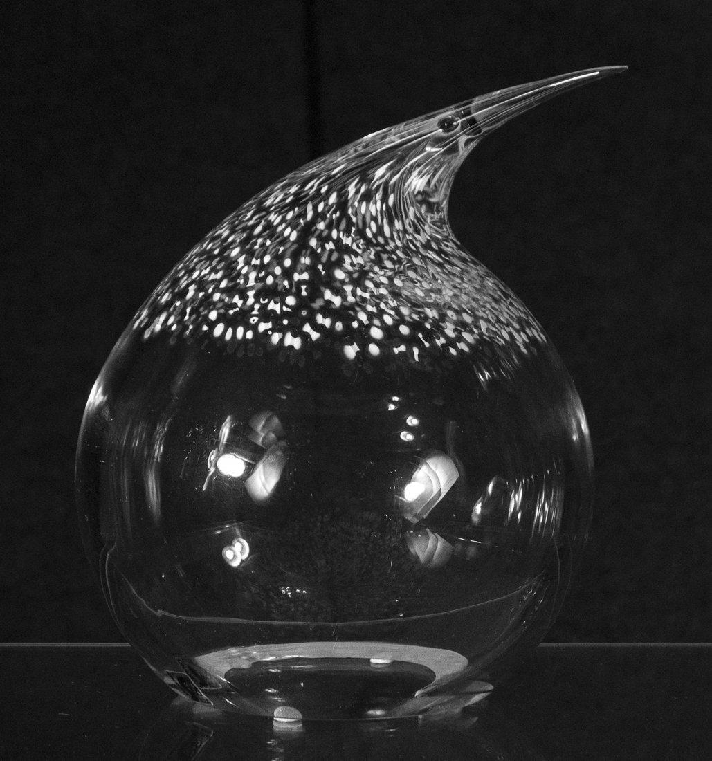SEGUSO MURANO ARTE VETRO Art Glass Fat Bird Signed