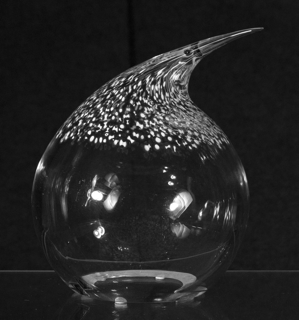 SEGUSO MURANO ARTE VETRO Art Glass Fat Bird Signed