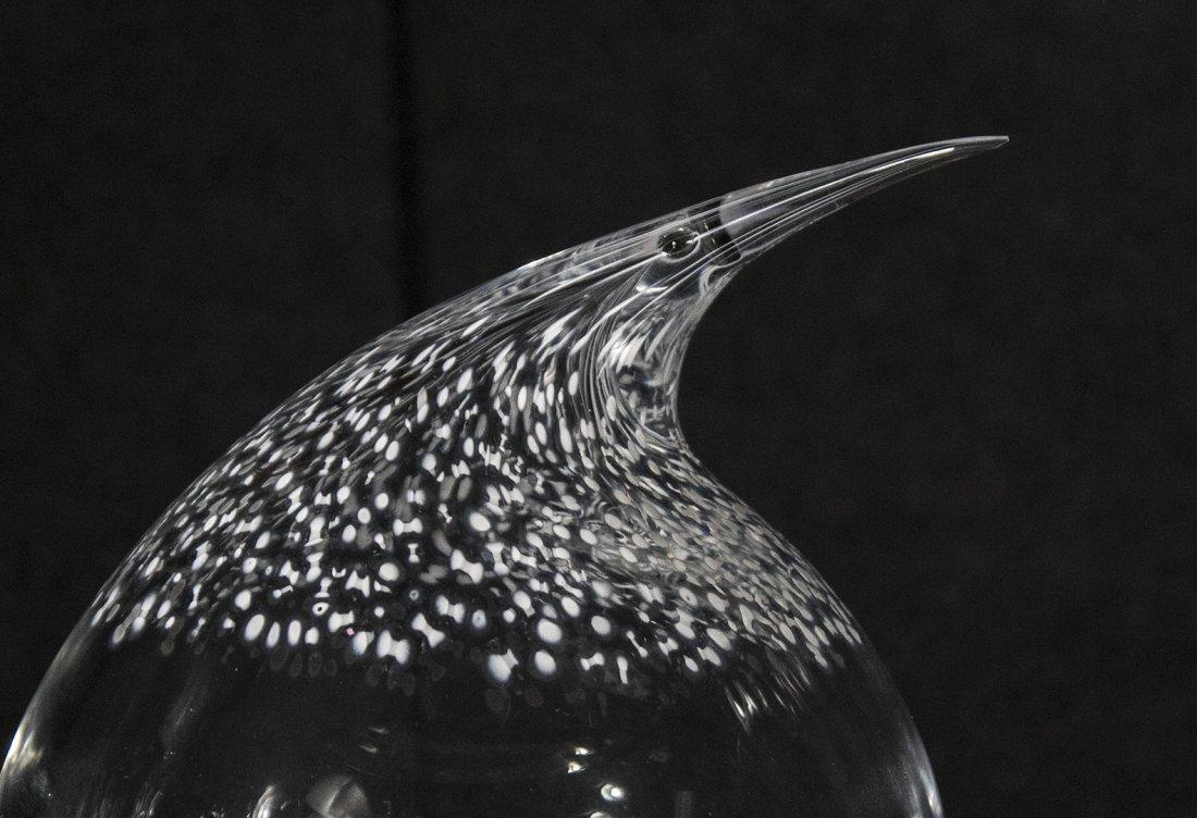 SEGUSO MURANO ARTE VETRO Art Glass Fat Bird Signed - 2