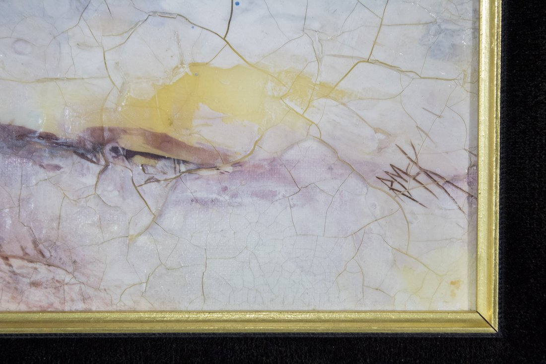 RUTH MCKEE 1929-2012, Pa Artist OIL/b WINTER LANDSCAPE - 2